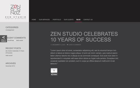 Screenshot of Blog zenstudio.ae - Zen Studio Blog - captured Oct. 9, 2014