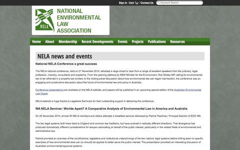 Screenshot of Press Page nela.org.au - News - captured Nov. 15, 2017