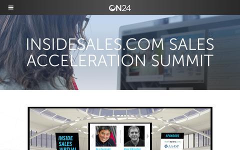 Screenshot of Case Studies Page on24.com - Case Study: InsideSales.com virtual event scores big   ON24 - captured Oct. 12, 2017