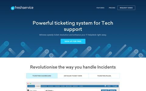 Screenshot of freshservice.com - IT Help Desk Software   SignUp for Freshservice - captured July 25, 2017