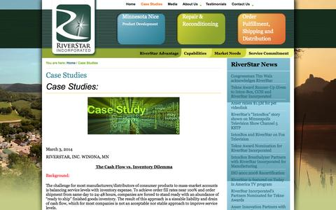 Screenshot of Case Studies Page riverstarinc.com - Case Study Examples Of We Can Help You - captured Oct. 7, 2014