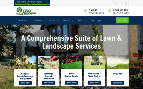 Screenshot of Home Page lawnconnections.com - Dallas & Fort Worth Trusted Landscaping Company | Lawn Connections - captured Sept. 27, 2018