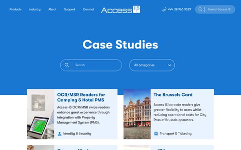 Screenshot of Case Studies Page access-is.com - Access IS Case Studies - captured Nov. 6, 2018