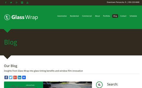Screenshot of Blog glasswrap.com - Blog - captured Feb. 2, 2019