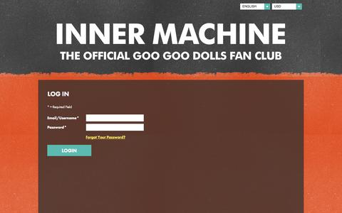 Screenshot of Login Page googoodolls.com - The Goo Goo Dolls Inner Machine Fan Club - captured Nov. 2, 2014