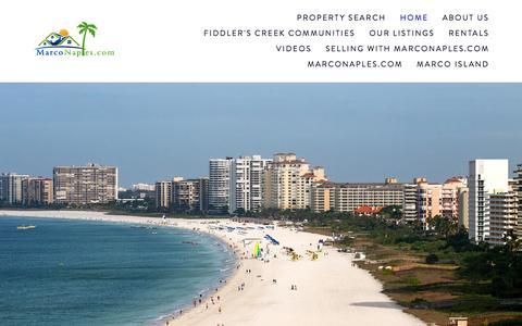 Screenshot of Home Page marconaples.com - MarcoNaples.com - captured Feb. 10, 2016