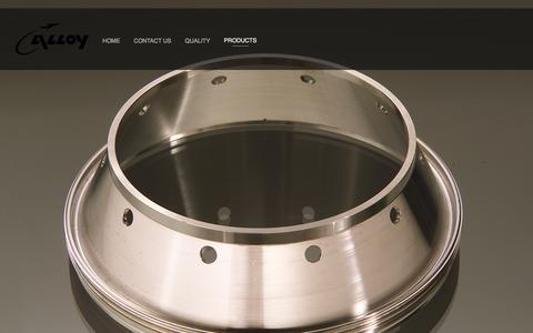 Screenshot of Products Page alloysp.com - Product Gallery — Alloy Specialties Inc. - captured Feb. 5, 2016