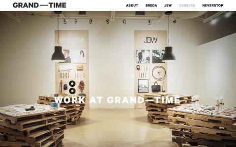 Screenshot of Jobs Page grandtime.com - Careers   Grand Time - captured Nov. 5, 2015