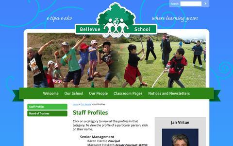 Screenshot of Team Page bellevue-newlands.school.nz - Staff Profiles - captured May 30, 2016
