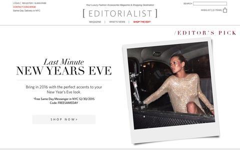 Screenshot of Home Page editorialist.com - Editorialist | Luxury Fashion Accessories Magazine & Online Store - captured Dec. 31, 2015