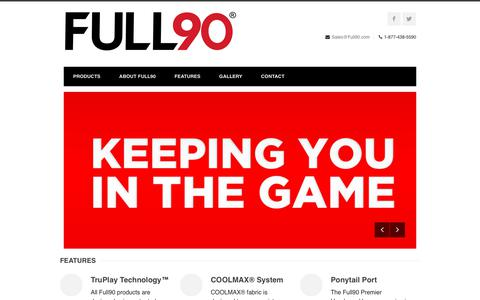Screenshot of Home Page full90.com - Home - Full90 - KEEPING YOU IN THE GAME - captured Oct. 11, 2018