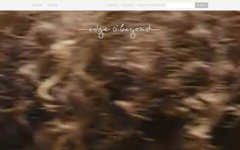 Screenshot of Home Page edgeobeyond.com - Edge o' Beyond | Luxury Lingerie, Nightwear and Jewellery with a twist – edgeobeyond - captured Jan. 31, 2016