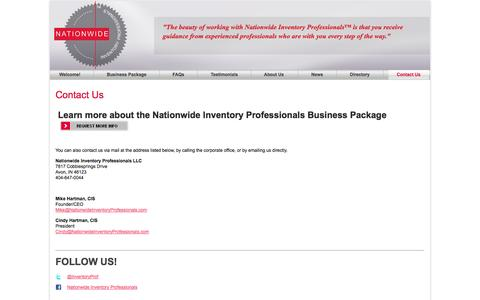 Screenshot of Contact Page nationwideinventoryprofessionals.com - Contact Nationwide Inventory Professionals | Nationwide Inventory Professionals - captured Oct. 7, 2014