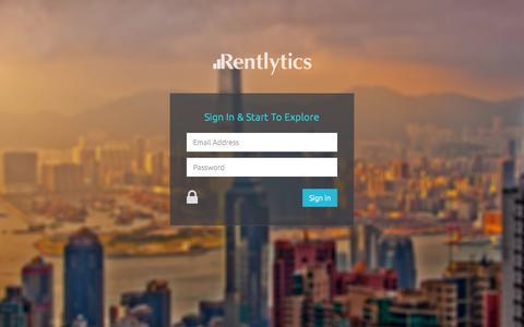 Screenshot of Login Page rentlytics.com - Rentlytics - captured Aug. 11, 2015