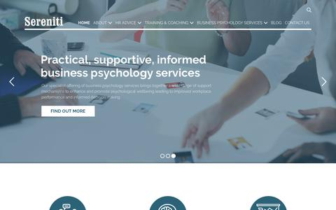 Screenshot of Home Page sereniti.co.uk - HR Outsourcing & HR Consultant Sheffield | Sereniti - captured Oct. 1, 2018