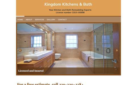 Screenshot of Home Page kingdom-kitchens.com - Kingdom Kitchens & Bath in Fort Myers, FL - captured Oct. 15, 2018
