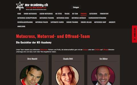 Screenshot of Team Page mx-academy.ch - Motocross-, Offroad-Team   MX Academy Schweiz - captured May 27, 2017