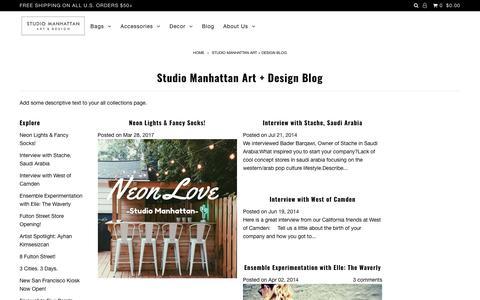 Studio Manhattan Art + Design Blog