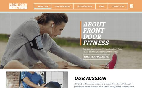 Screenshot of About Page frontdoorfitness.com - About Us – Front Door Fitness - captured Jan. 8, 2016