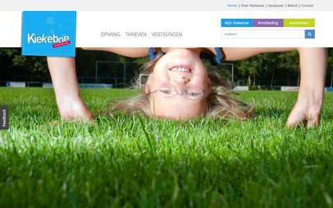 Screenshot of Home Page kiekeboe.info - Kiekeboe Kinderopvang | Gewoon betere opvang - captured March 1, 2016