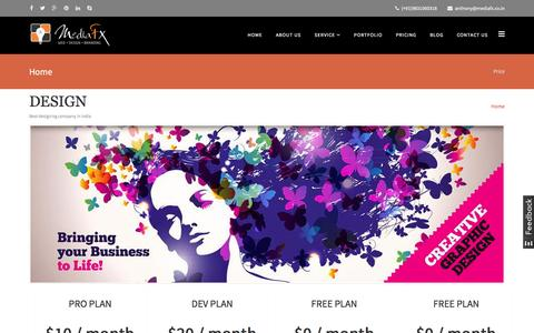 Screenshot of Pricing Page mediafx.co.in - Professional SEO Company in India, Best Web Design & Development Company in India - captured Aug. 10, 2016