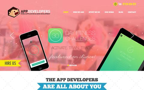 Screenshot of Home Page the-app-developers.co.uk - App Developers | App Development for Android | app developers iPhone - captured Sept. 23, 2014