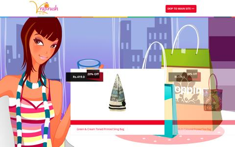 Screenshot of Home Page kraftrush.com - Buy Indian Ethnic, Handicrafts, Memoirs Bags, Online Shopping Store | Kraftrush.com - captured Sept. 19, 2014