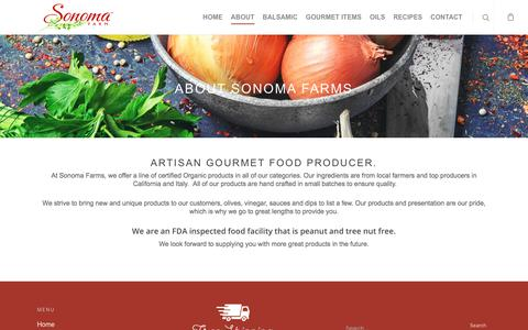 Screenshot of About Page sonomafarm.com - About – Sonoma Farms - captured Nov. 7, 2017