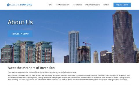 Screenshot of About Page sellerscommerce.com - Sellers Commerce | Manage. Sell. Grow. | About us - captured Oct. 27, 2014