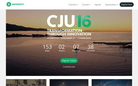 Screenshot of Home Page cjuniversity.com - CJU16: A CJ Affiliate Event - captured April 13, 2016