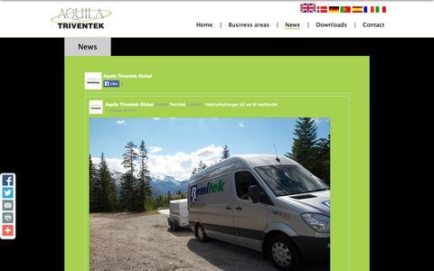 Screenshot of Press Page aquila-triventek.com - News | Aquila Triventek - captured Nov. 2, 2014