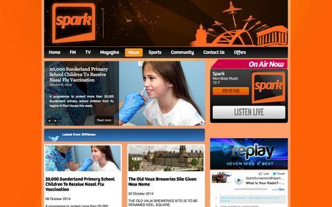 Screenshot of Press Page sparksunderland.com - News »  Spark Sunderland - captured Oct. 27, 2014