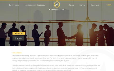 Screenshot of Contact Page Team Page mmfcapital.com - Experienced Junior Capital Providers | MMF Team - captured Feb. 16, 2016