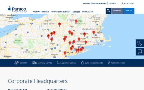 Screenshot of Locations Page paracogas.com - Locations | paracogas - captured Sept. 26, 2018