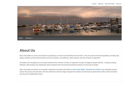 Screenshot of About Page elgin.com.au - About Us - Elgin Associates Pty Ltd - captured Sept. 27, 2018