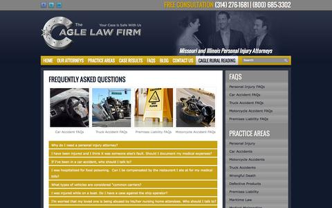 Screenshot of FAQ Page allinjuryattorney.com - Frequently Asked Questions | St. Louis Personal Injury Attorneys - captured Oct. 26, 2014