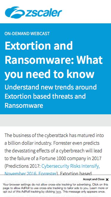 Extortion and Ransomware:  What you need to know