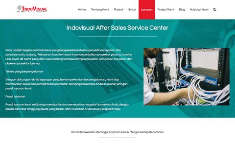 Screenshot of Services Page indovisual.co.id - Indovisual Service Solution (ISS) - Service Center & Spare Part - captured Sept. 26, 2018