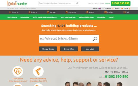 Screenshot of Services Page brickhunter.com - Building Services - Brickhunter - captured Jan. 17, 2016