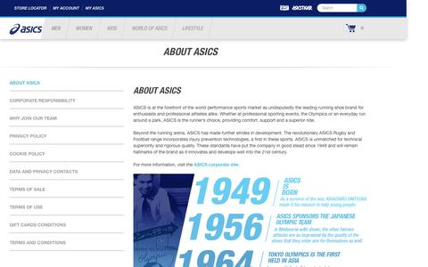 Screenshot of About Page asics.com - About ASICS | ASICS Australia - captured Nov. 19, 2016