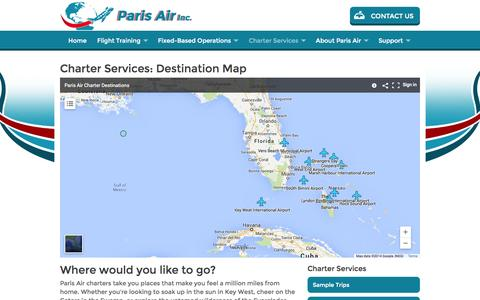 Screenshot of Maps & Directions Page parisair.com - How To Become A Pilot: Flying Lessons, Flight School, Pilot Training For Private Pilot License - captured Oct. 1, 2014