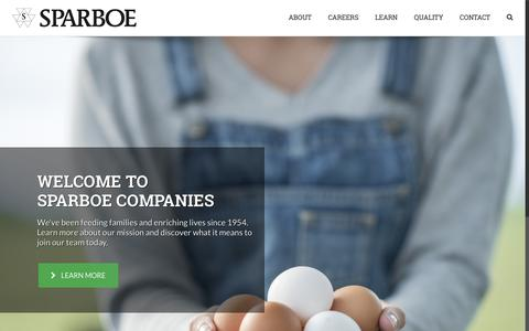 Screenshot of Home Page sparboe.com - Sparboe Companies | Feeding Families & Enriching Lives Since 1954 - captured Oct. 18, 2018