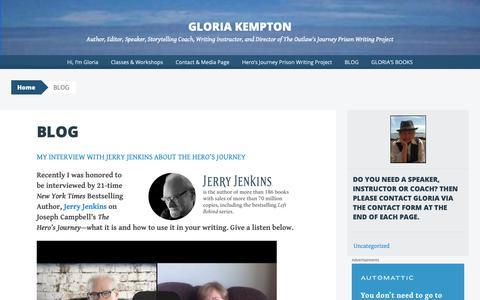 Screenshot of Blog wordpress.com - BLOG | Gloria Kempton - captured Oct. 27, 2018