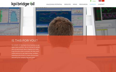Screenshot of Jobs Page kpibridgeoil.com - Careers - KPI Bridge Oil - captured Nov. 6, 2018