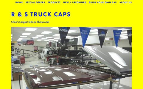 Screenshot of Home Page rstruck.com - R & S Truck Caps - captured July 2, 2018