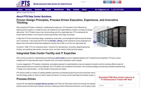 Screenshot of About Page ptsdcs.com - About PTS Data Center Solutions - PTS Data Center Solutions - captured Nov. 9, 2019