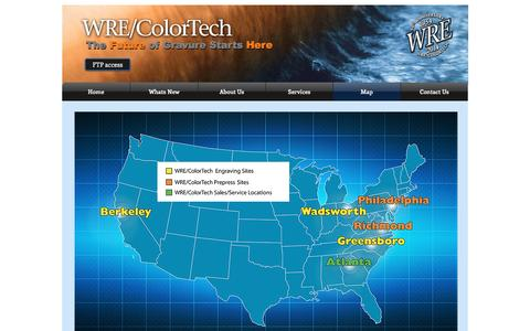 Screenshot of Maps & Directions Page wrecolor.com - WRE/ColorTech gravure cylinders | Map - captured Nov. 30, 2016