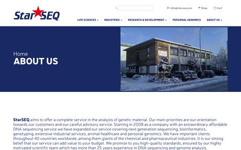 Screenshot of About Page starseq.com - About us - StarSEQ - The Nucleotide Specialists - captured July 8, 2017