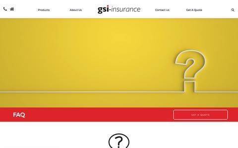 Screenshot of FAQ Page gsi-insurance.com - FAQ - GSI Southern - captured Sept. 22, 2018
