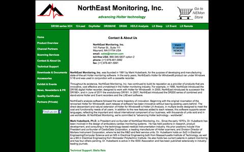 Screenshot of About Page nemon.com - NorthEast Monitoring Contact and About Us Information - captured Jan. 23, 2017